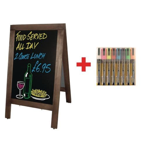 Olympia Small Pavement Board and FREE Set of Securit Pens